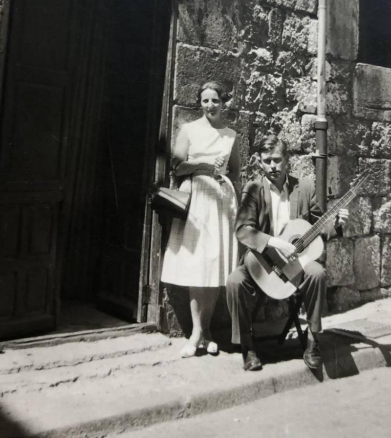 Mijnheer en mevrouw Nierstrasz in Burgos, Spanje.